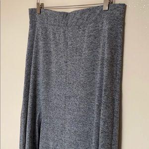 divided full length maxi skirt with side slit L